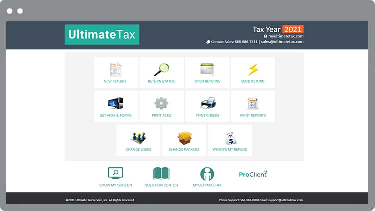 UltimateTax Software Features